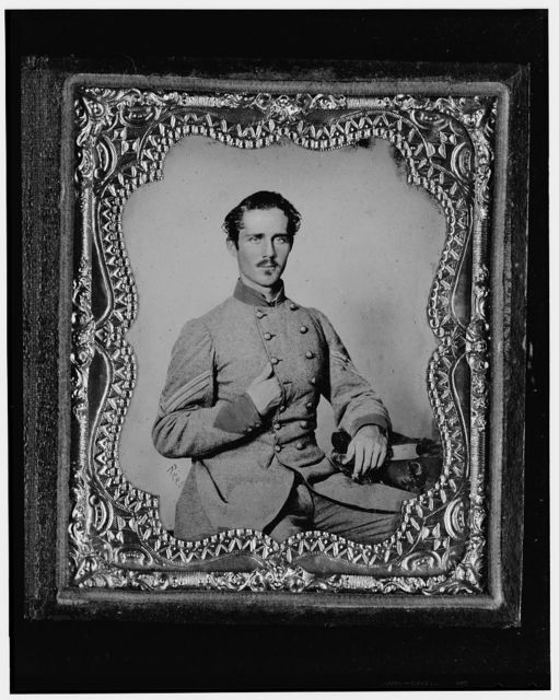 [Bernard Bluecher Graves, Corp., C.S.A., three-quarter length portrait, seated, facing front] / Rees.