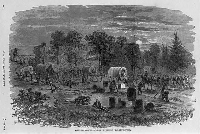 Blenker's Brigade Covering the Retreat Near Centreville