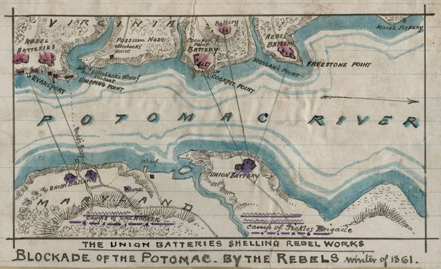 Blockade of the Potomac - by Rebels, winter of 1861