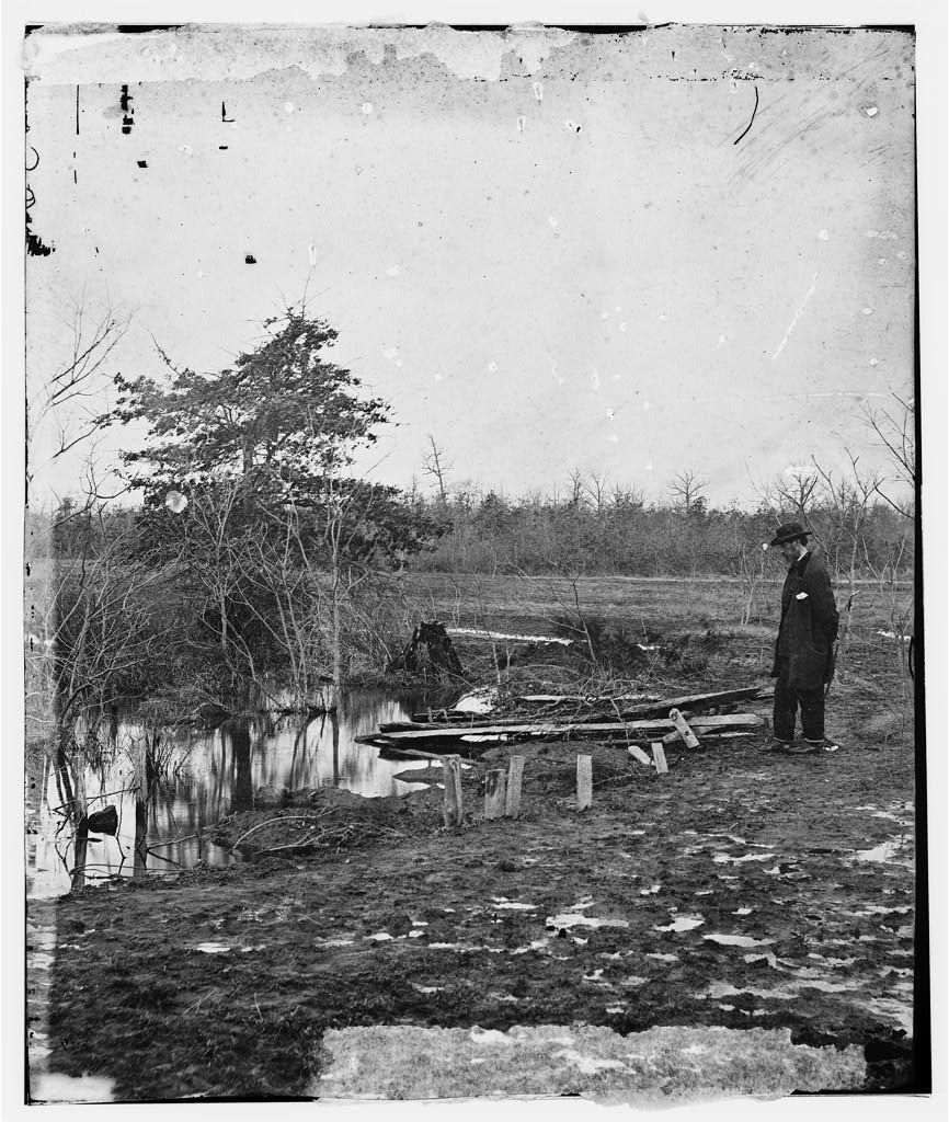 Bull Run, Virginia. Soldiers graves on the battlefield