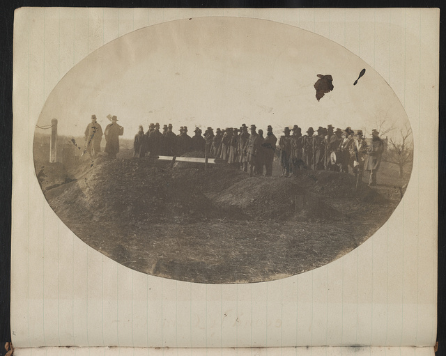 [Burial of Union soldier at Camp Griffin, Langley, Virginia]