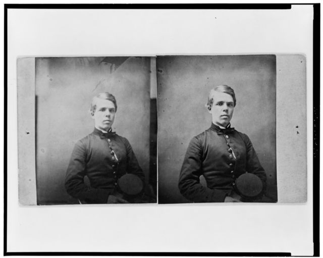 [Cadet J.R. Meigs, half-length portrait, seated, holding cap]