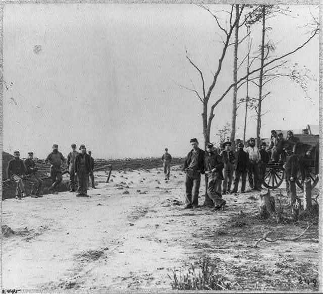 Camp of 13th New York Artillery in front of Petersburg, Va.