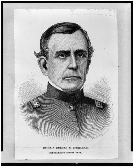 [Captain Duncan N. Ingraham, Confederate States Navy, bust portrait, facing front] / D.B.C. ; photo. Eng Co. NY.