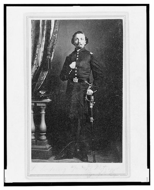 [Captain Frederick Ludwig (Lodewig), Union officer in the 32nd Indiana Regiment, full-length portrait, facing front] / T.M. Schleier's Cartes de Visite Photograph Gallery, Nashville, Tenn.