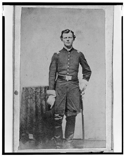 [Captain Louis Ernst von Trebra, Union officer in the 32nd Indiana Regiment, full-length portrait, standing, facing front] / Rex Mf'g Co., Chicago.