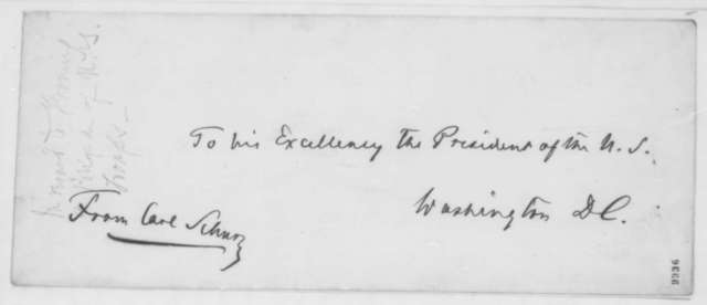 Carl Schurz to Abraham Lincoln, Friday, May 17, 1861  (Introduction)