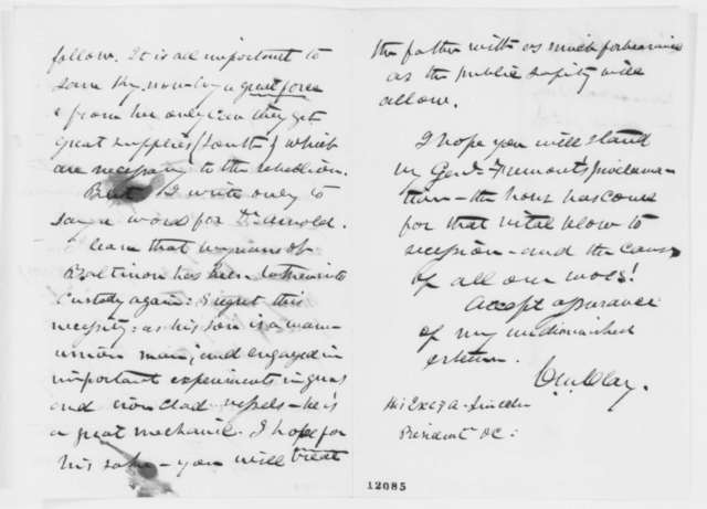 Cassius M. Clay to Abraham Lincoln, Friday, September 27, 1861  (Increase in salary for John Arnold)