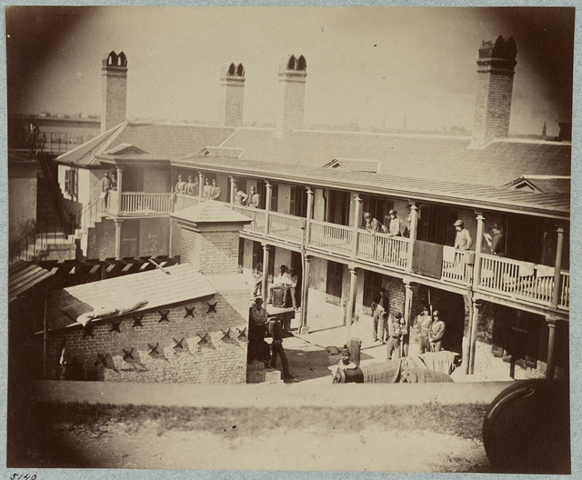 Castle Pinkney [i.e. Pinckney], Charleston, S.C., August, 1861, barracks