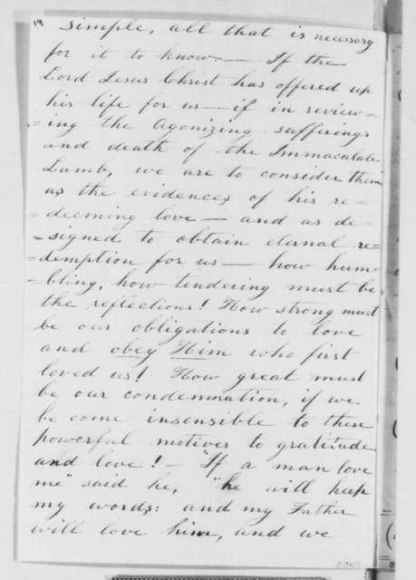 Catherine C. Ladd, Wednesday, March 13, 1861  (Essay on war)