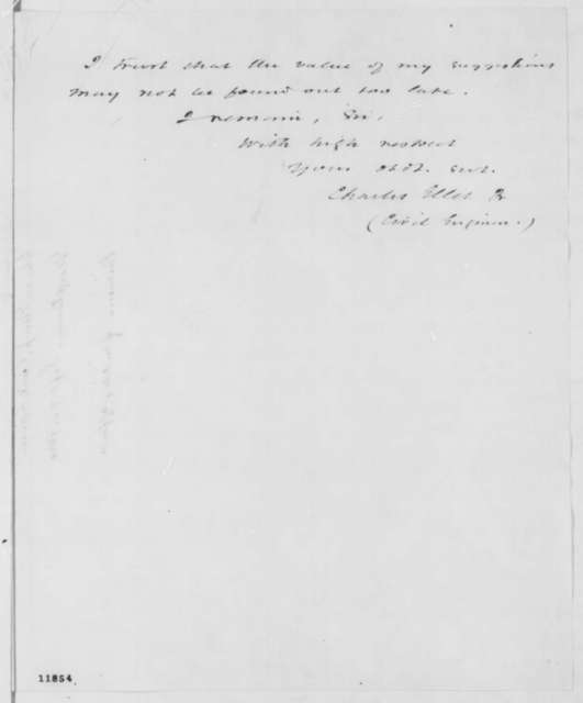 Charles Ellet Jr. to Abraham Lincoln, Friday, September 20, 1861  (Military affairs)