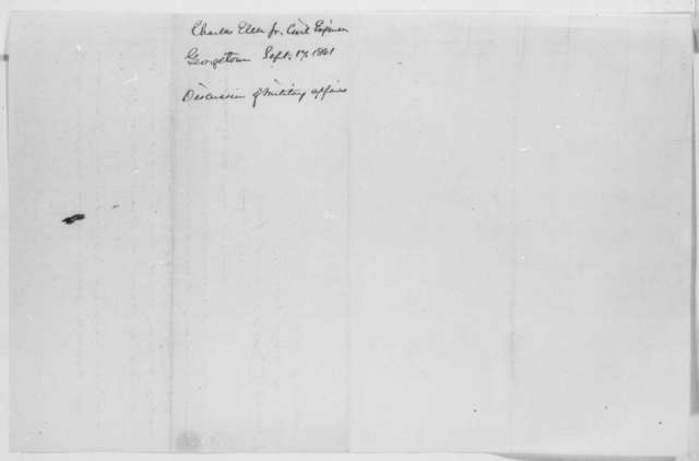 Charles Ellet Jr. to Salmon P Chase, Tuesday, September 17, 1861  (Military affairs)