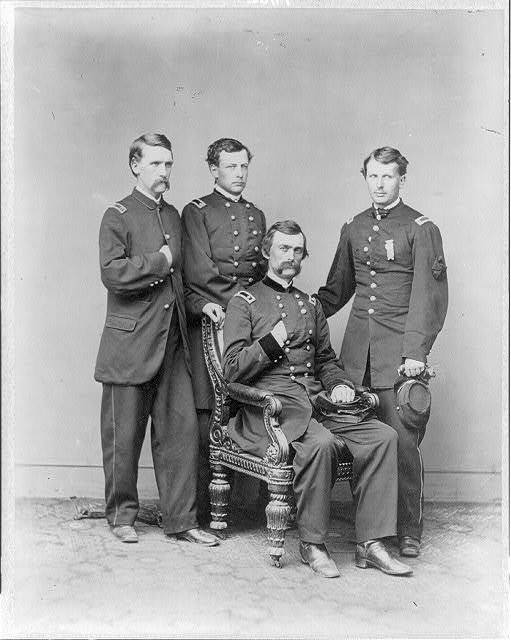 [Charles Griffin, 1825-1867. Maj. Gen. Griffin and staff]