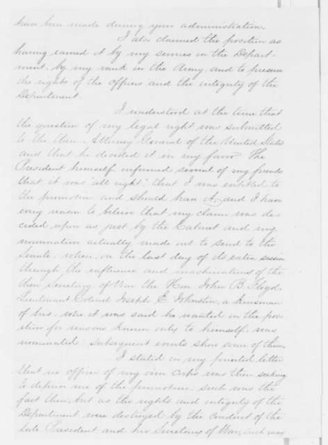 Charles Thomas to Abraham Lincoln, Wednesday, May 29, 1861  (Seeks army promotion)