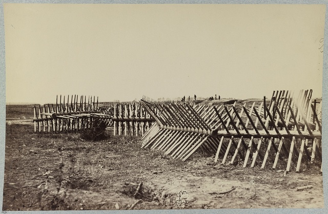 Chevaux de frise in front of Confederate fortifications, Petersburg, Va.