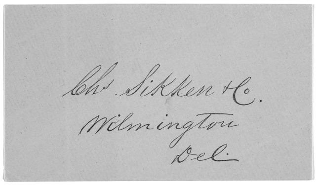 [Circular letter regarding lotteries] March 18, 1861. [Wilmington, 1861].