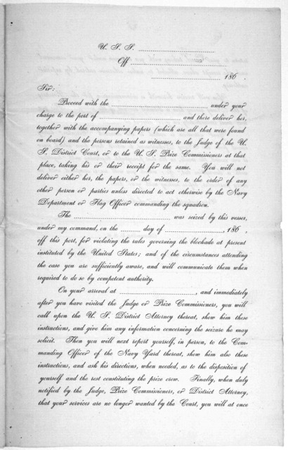 (Circular.) Navy department, November 6, 1861. The attention of commanding officers in their duties, from the 29th article of the act of April 23, 1800, for the better government of the Navy ... [Washington, 1861].
