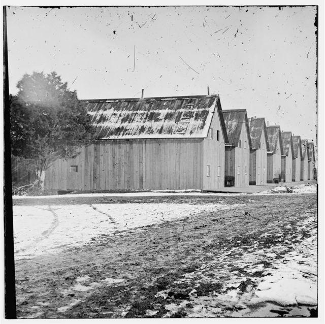 City Point, Virginia. Barracks of Military Railroad Construction Corps