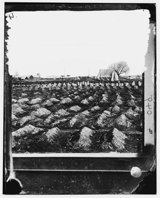 City Point, Virginia. Soldier's graves near General Hospital