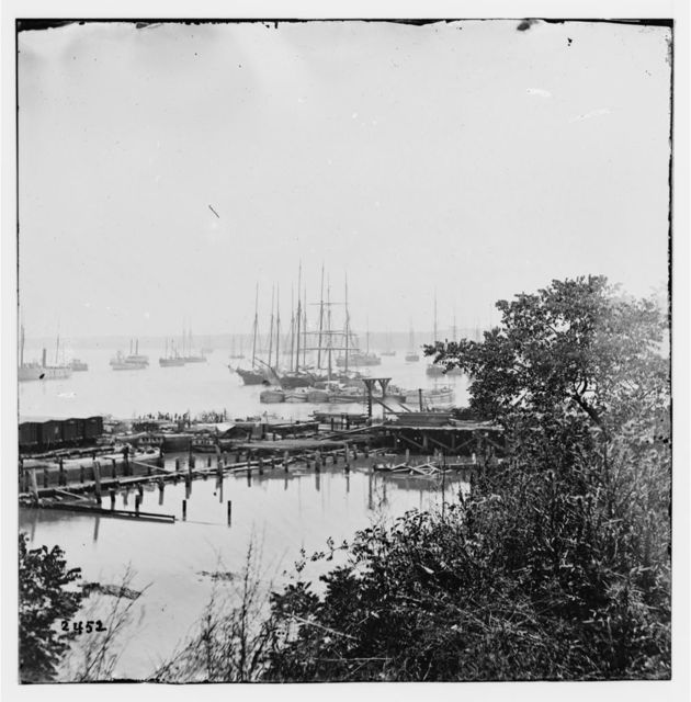 City Point, Virginia. Wharf and transports