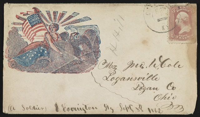 [Civil War envelope showing Liberty holding a flag]