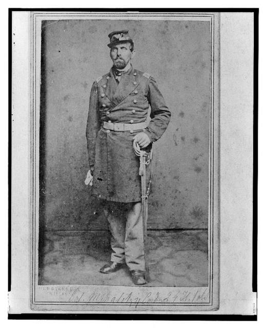 [Colonel Géza Milahótzy, Union officer in the 24th Illinois Infantry Regiment, full-length portrait, standing, facing front] / Webster's Bros.