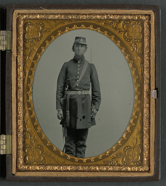 [Colonel Joseph Walker of Co. K, 5th South Carolina Infantry Regiment, and Field and Staff, Palmetto South Carolina Sharpshooters Regiment, in uniform, two-piece belt buckle with palmetto, and sash over shoulder for officer of the day, with eagle head sword]