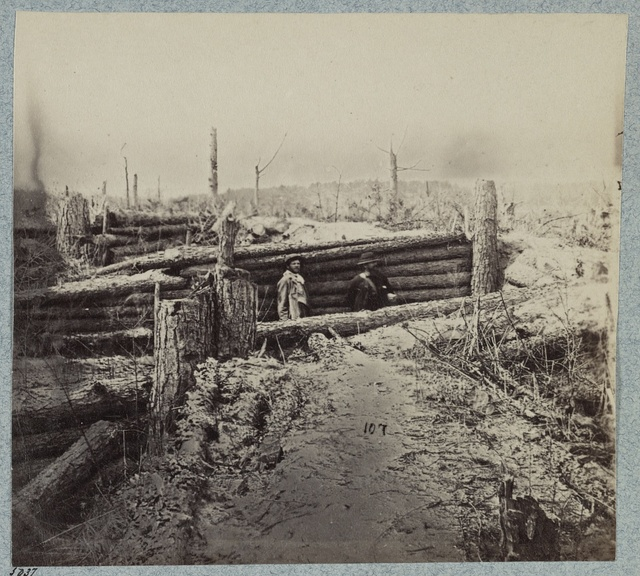 Confederate entrenchments near junction of old and new Court House Roads