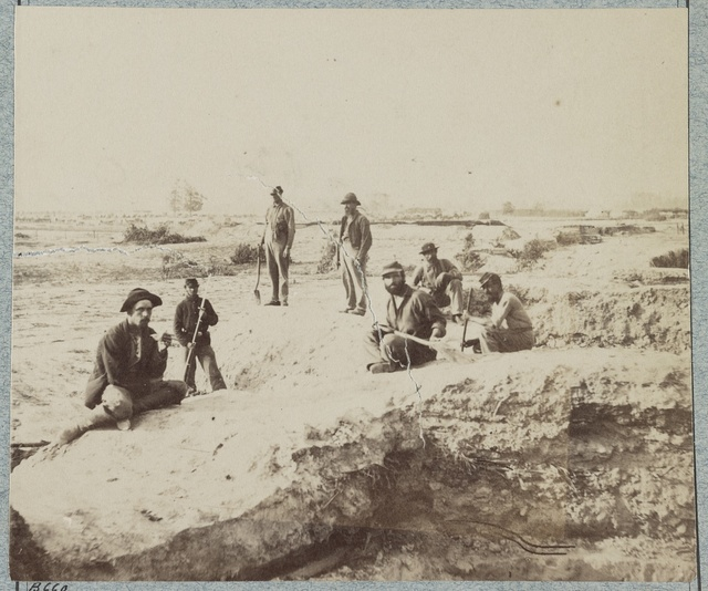 Confederate fortifications at Warren Station