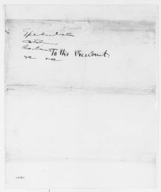 Congress,  1861  (Memorandum of testimony on government contracts)