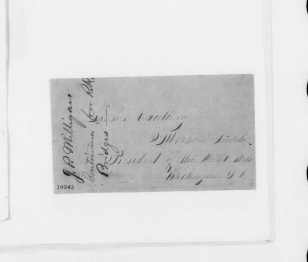 Cornelius L. L. Leary to Abraham Lincoln, Tuesday, June 18, 1861  (Introduction)