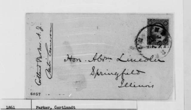 Cortlandt Parker to Abraham Lincoln, Thursday, January 10, 1861  (Recommends New Jersey over Pennsylvania for a cabinet position)