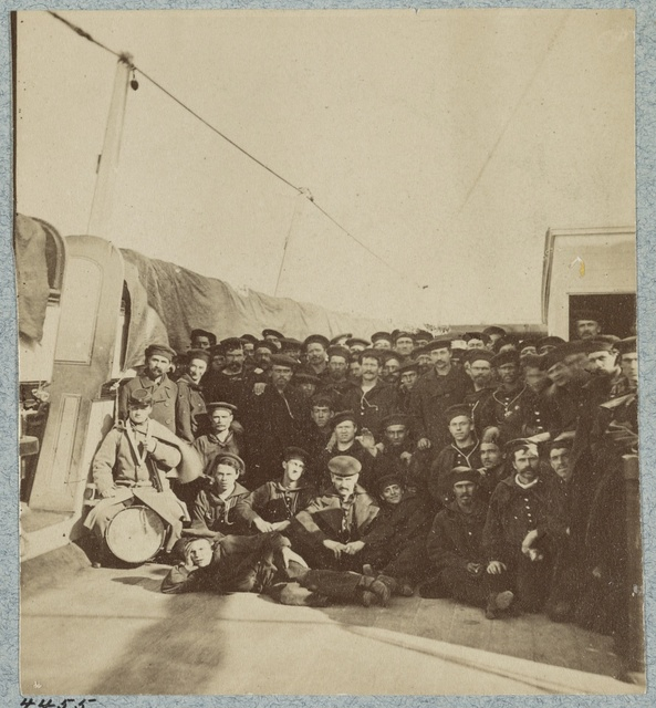 Crew on deck of U.S.S. Colorado