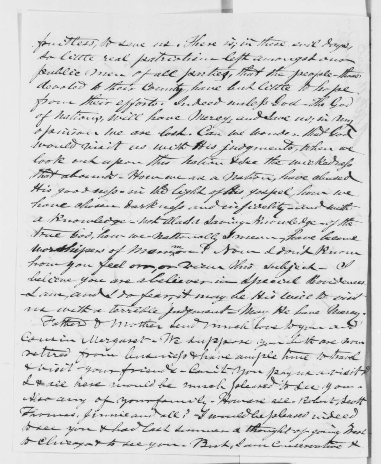 D. W. Patterson to Robert Officer, Friday, January 25, 1861  (Cameron and A. K. McClure)