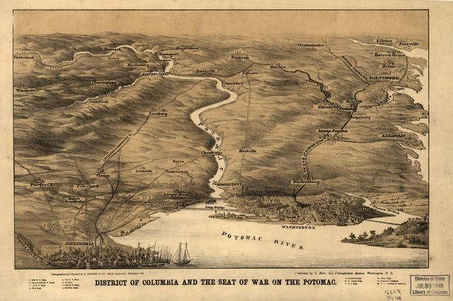 District of Columbia and the seat of war on the Potomac.