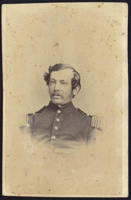 [Doc Frier, surgeon, U.S.A., Mount Plesant(?) Hospital, head-and-shoulders studio portrait, facing front, wearing military uniform]