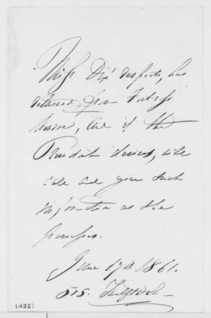 Dorothea Lynde Dix to Abraham Lincoln, Monday, June 17, 1861  (Interview)