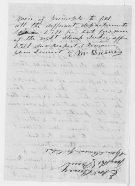E. M. Burney to Abraham Lincoln, Friday, January 25, 1861  (Opposes Cameron)