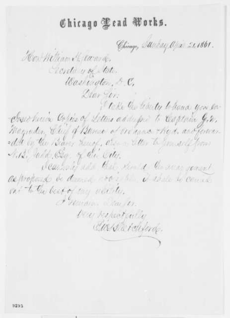 E. W. Blatchford to William H. Seward, Sunday, April 21, 1861  (Cover letter)