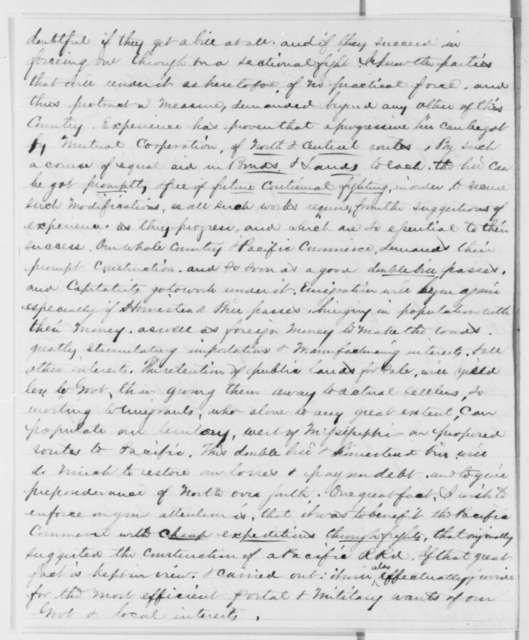 Edgar Conkling to Abraham Lincoln, Thursday, November 14, 1861  (Pacific Railroad)