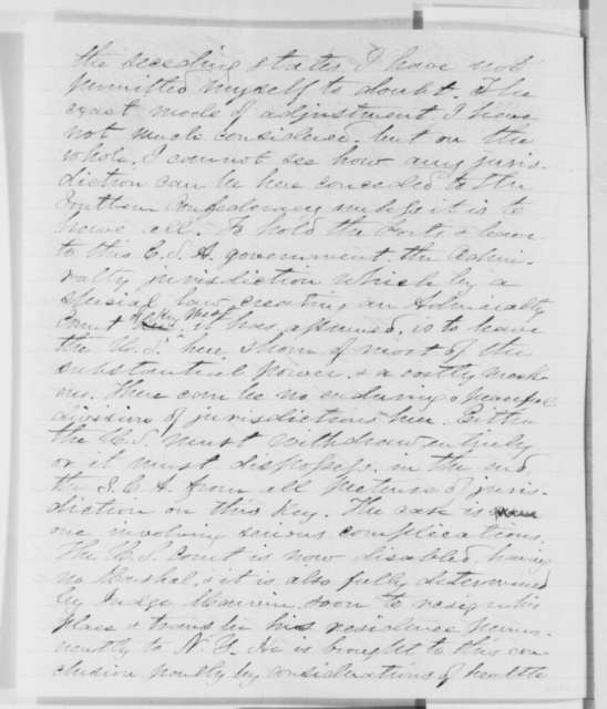 Edward B. Hunt to Joseph G. Totten, Thursday, April 04, 1861  (Report from Fort Taylor, Florida)