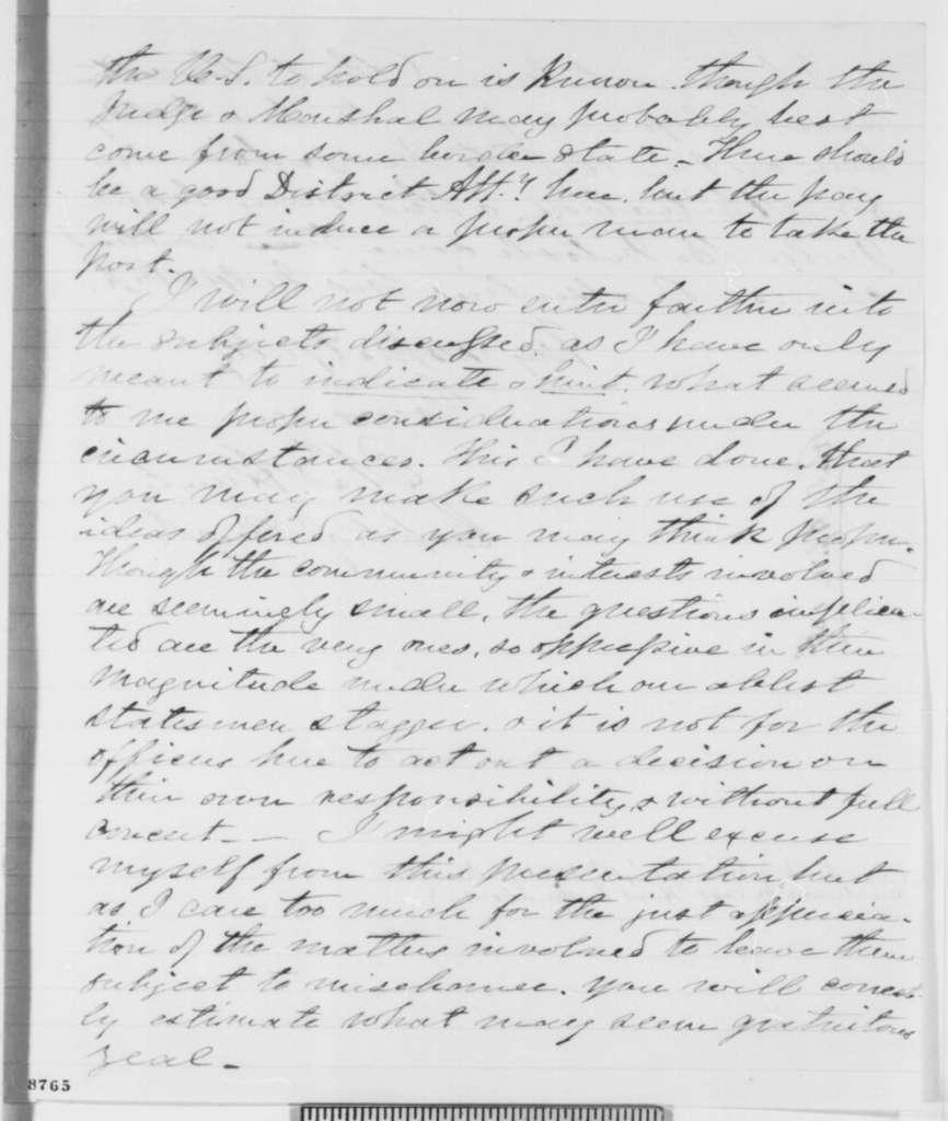 Edward B. Hunt to Joseph G. Totten, Thursday, April 04, 1861  (Report from Fort Taylor, Florida)