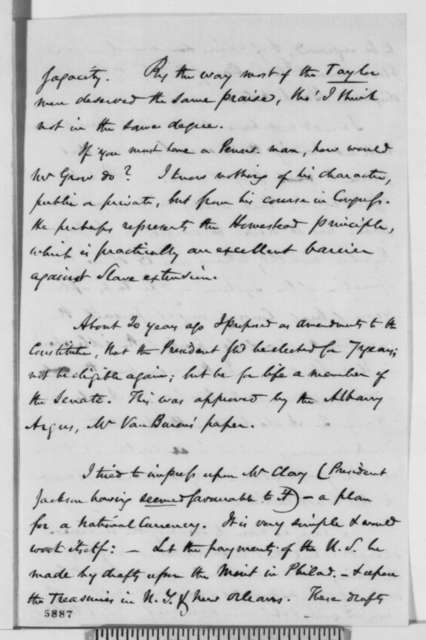 Eliakim Littell to Abraham Lincoln, Monday, January 07, 1861  (Cabinet appointments and other political matters)