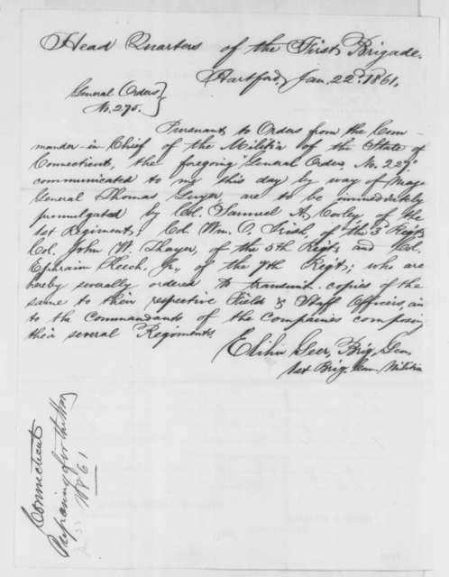 Elihu Geer to John G. Nicolay, Wednesday, February 06, 1861  (Legal business)