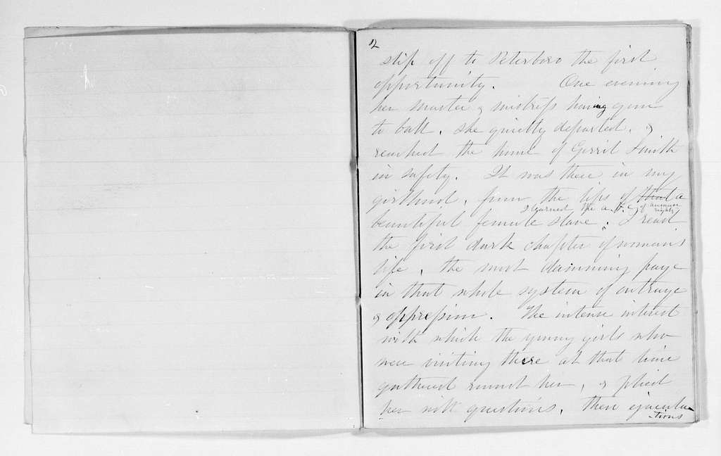 Elizabeth Cady Stanton Papers: Speeches and Writings, 1848-1902; Speeches; 1861; 1861, speech in Orleans County and speech on slavery