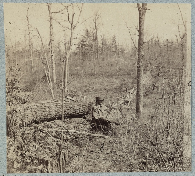 Federal entrenchments across Plank Road about one mile west of Chancellorsville