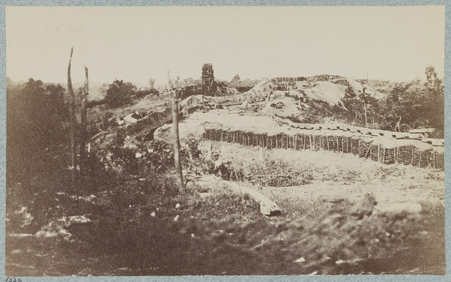 Federal entrenchments in front of Vicksburg