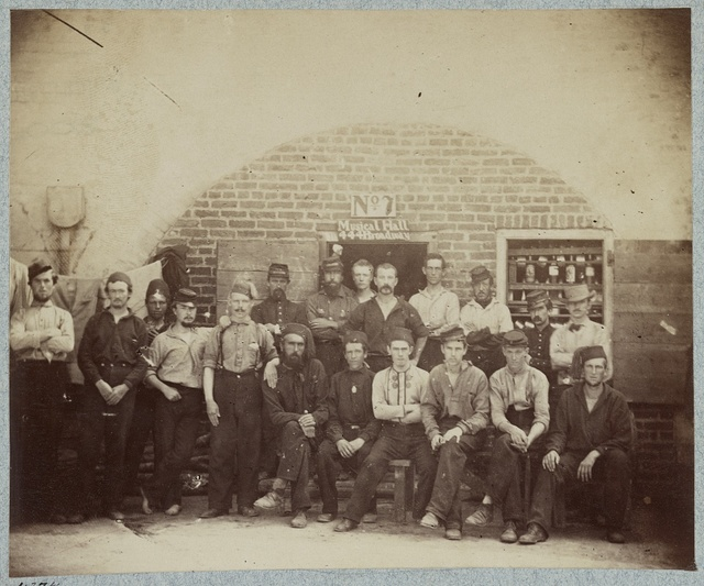 Federal prisoners captured at battle of Bull Run, Castle Pinkney [i.e. Pinckney], Charleston, S.C., August 1861