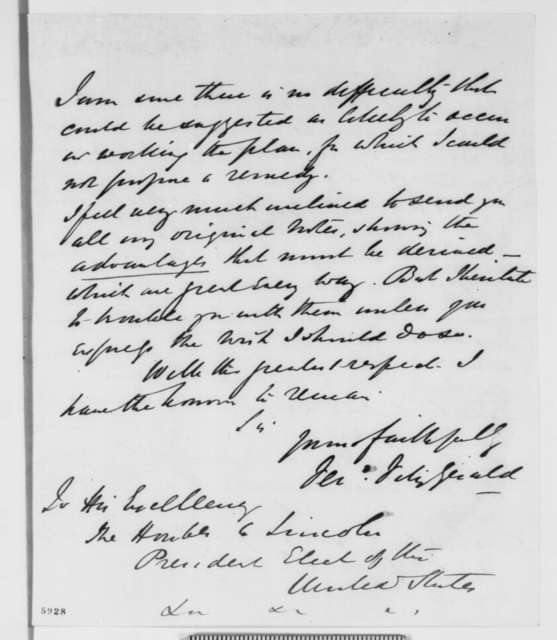 Ferdinand Fitzgerald to Abraham Lincoln, Tuesday, January 08, 1861  (Plan to establish colony in West Africa)