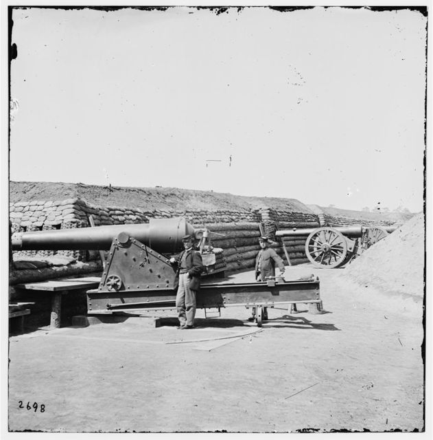 Fort Brady, James River, showing part of battery